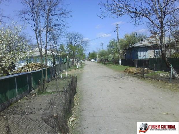Strada din comuna Ripiceni judetul Botosani.