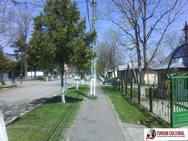 Strada principala din comuna Ripiceni, Botosani.