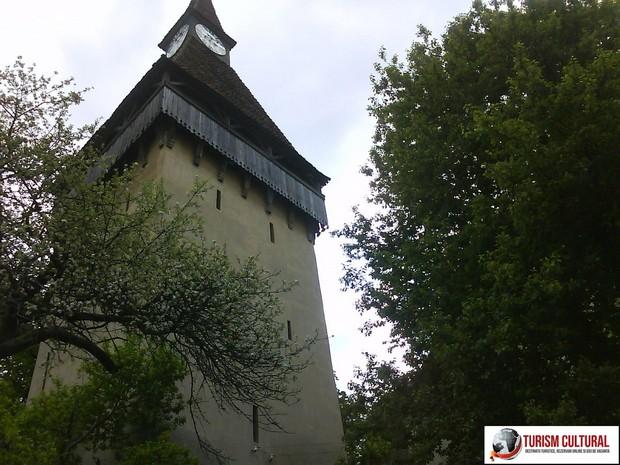 Biserica fortificata Biertan turnul cu ceas