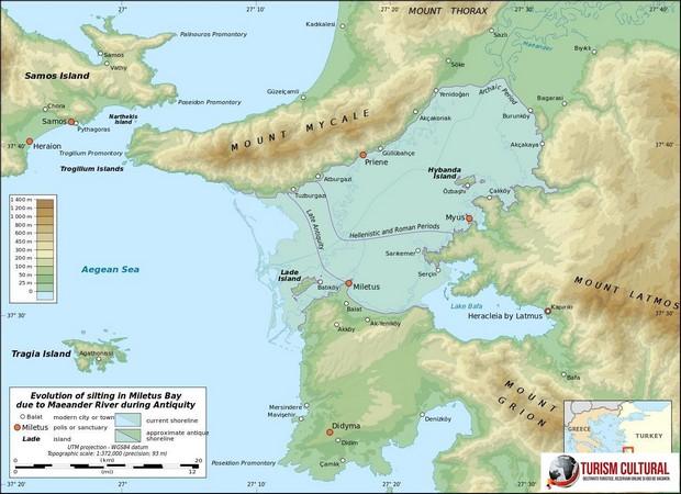 Colmatarea golfului si orasele antice Priene Milet si Didyma