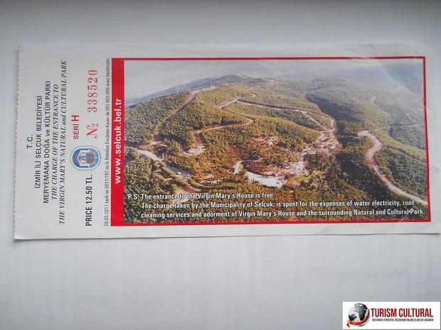 Efes Casa Fecioarei Maria bilet de intrare
