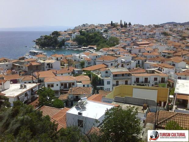 Grecia insula Skiathos vedere de la biserica de sus