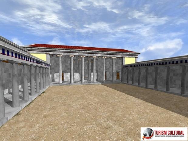 Milet gymnasiumul lui Eudemus (reconstituire pe computer)