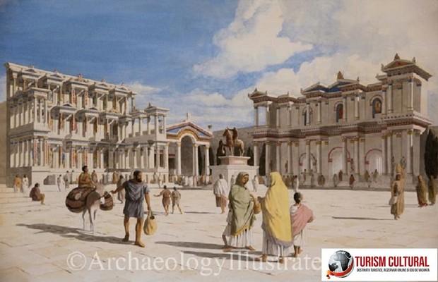 Orasul antic Milet nimphaeum si poarta agorei de sud