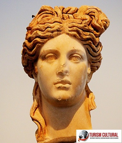 Afrodita a Aphrodisiei Turcia bustul din marmura