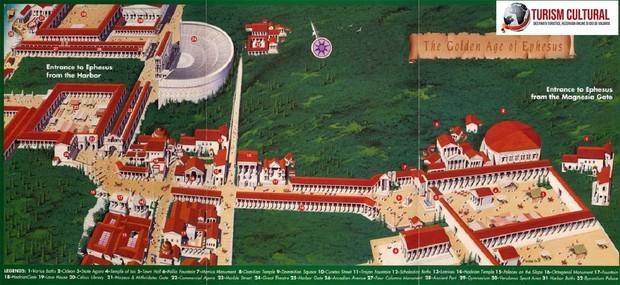 Turcia Efes reconstituire (desen artistic)