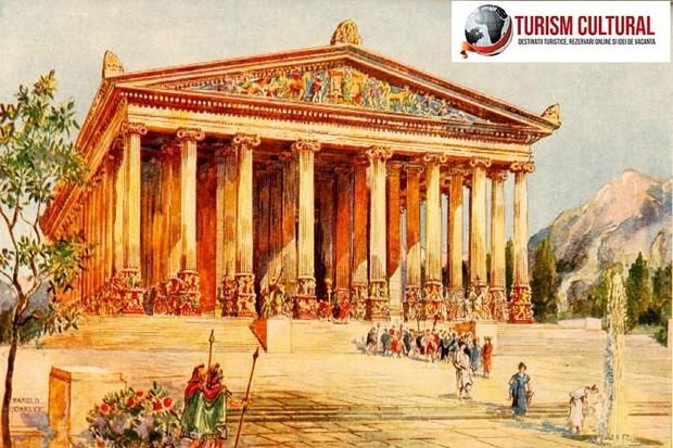 Turcia Efes templul Artemisei reconstituire artistica (pictura)
