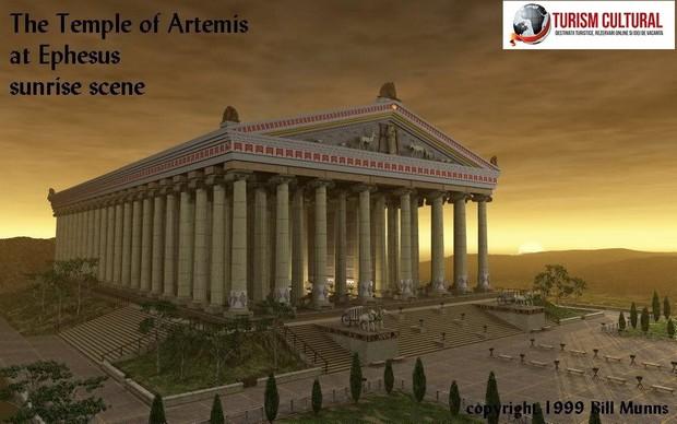 Turcia Efes templul Artemisei reconstituire artistica