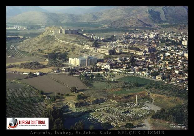 Turcia Efes templul Artemisei vedere aeriana asupra sitului arheologic