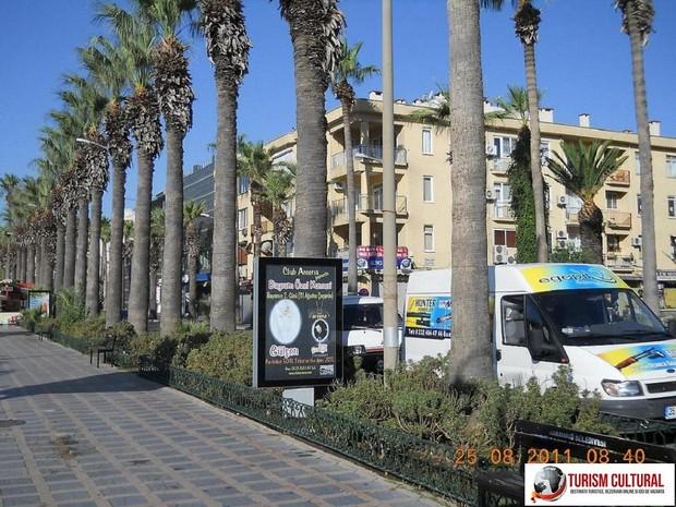 Turcia Marmaris bulevardul palmierilor dimineata