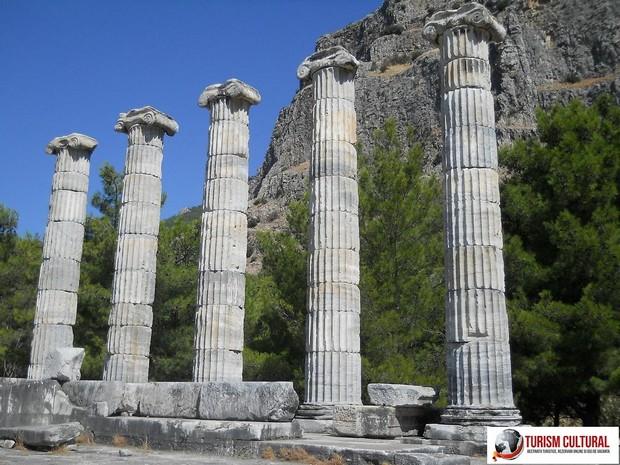 Turcia Priene templul Atenei cele cinci coloane