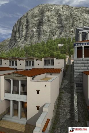 Turcia Priene reconstituire model de casa pe computer
