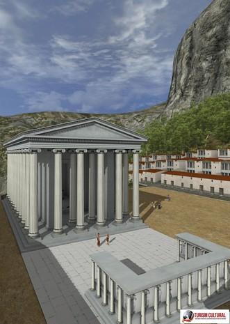 Turcia Priene templul Atenei reconstituire pe computer