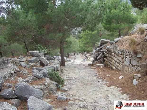 Turcia Priene strada principala din orasul antic