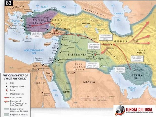Turcia harta regatului regelui Cyrus