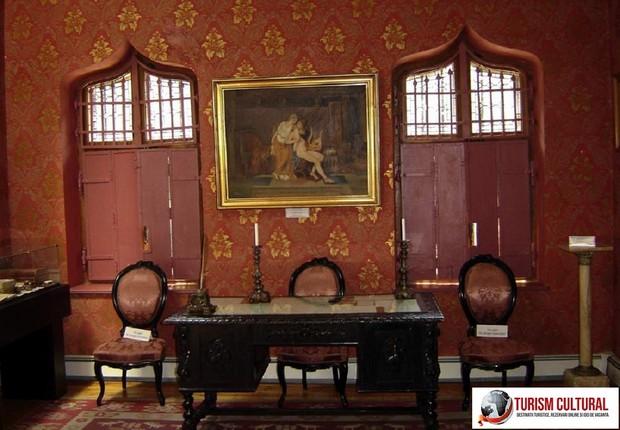 Castelul Iulia Hasdeu camera de lucru a lui Bogdan Petriceicu Hasdeu