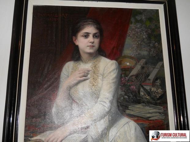 Castelul Iulia Hasdeu portretul Iuliei de Maillart 1889