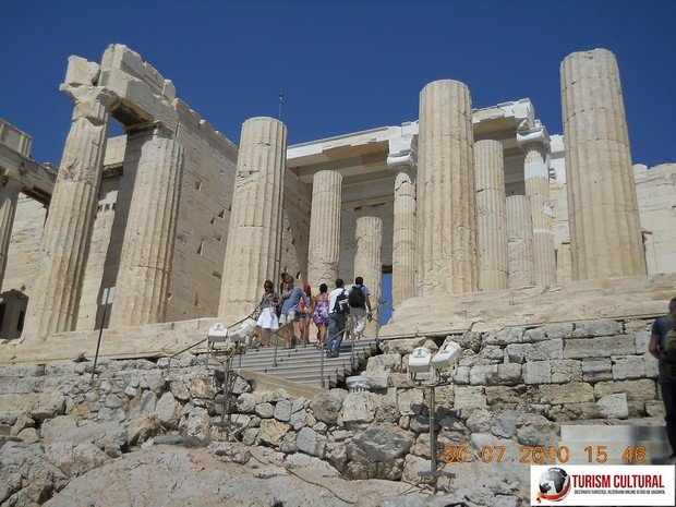 Grecia Atena acropole Propilee intrare