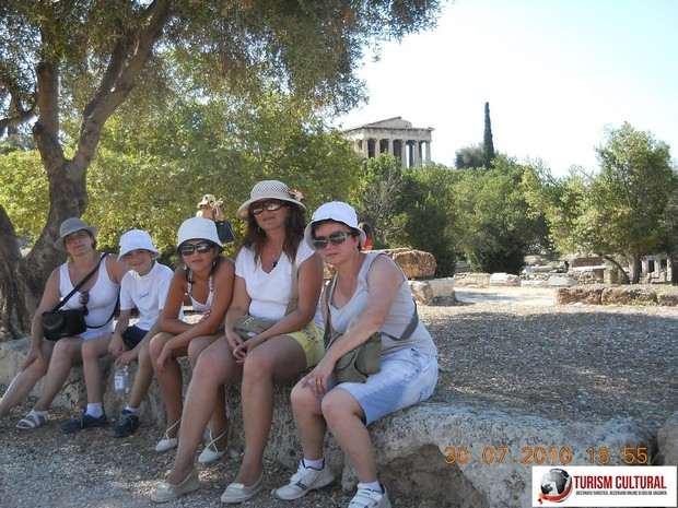 Grecia Atena odihna in Agora