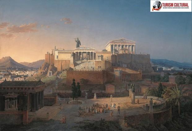 Grecia Atena acropole pictura de Leo Von Klenze