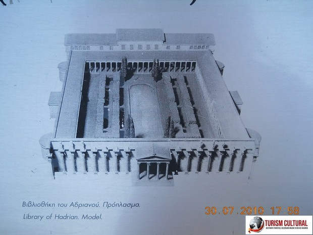 Grecia Atena Biblioteca lui Hadrian reconstituire