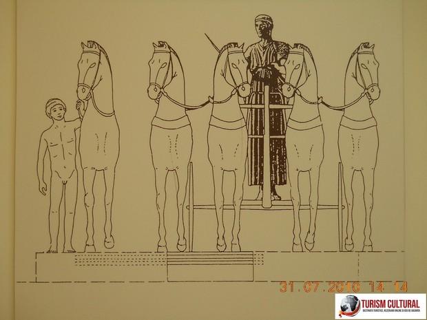 Grecia Delphi muzeul ansamblul cu vizitiul