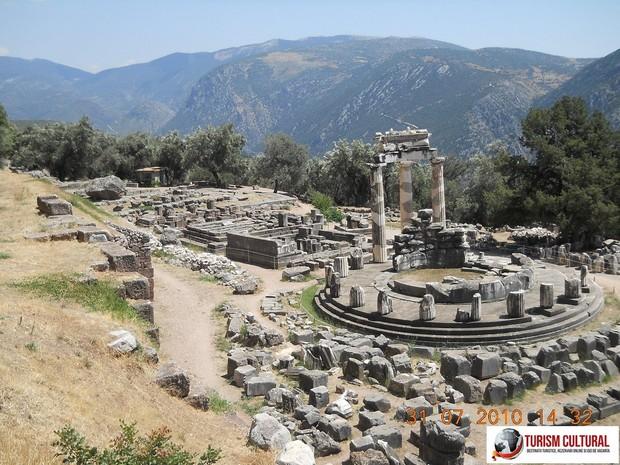 Grecia Delphi templul Atenei Pronaia