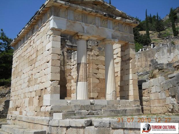 Grecia Delphi tezaurul Atenei