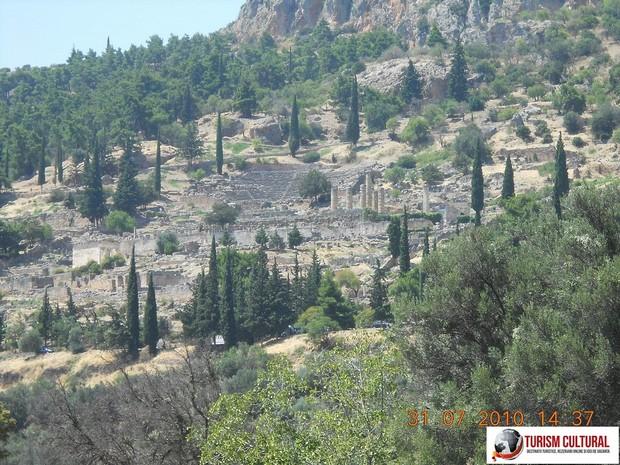 Grecia Delphi vedere generala asupra sitului arheologic