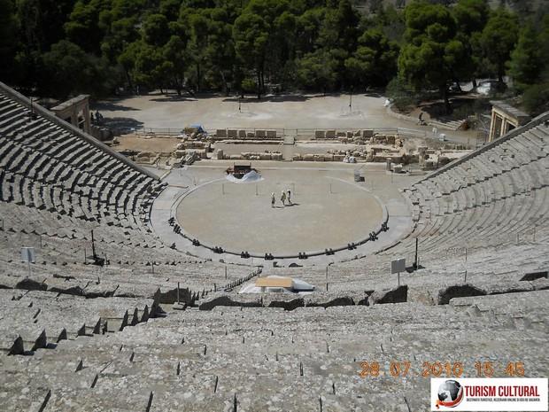 Grecia Epidaur teatrul ansamblu