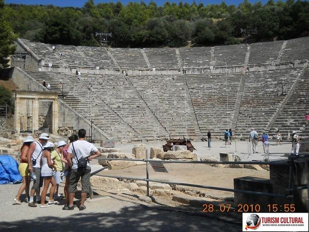 Grecia Epidaur teatrul intrare