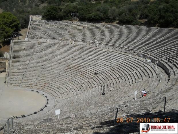 Grecia Epidaur teatrul sus pe ultima treapta