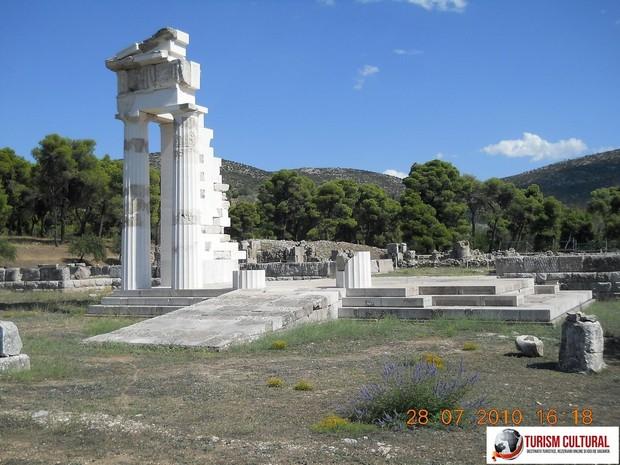 Grecia Epidaur templul lui Aclepios reconstituire