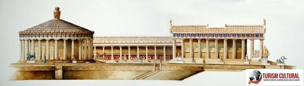Grecia Epidaur tholos abaton reconstituire