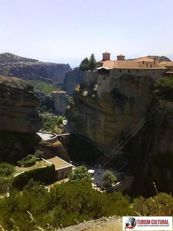Grecia Meteora manastirea Aghiou Stefanou (fotografie facuta de la Marele Meteor)