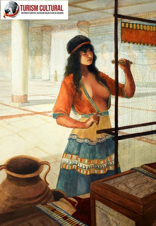 Grecia Micene femeie miceniana desen