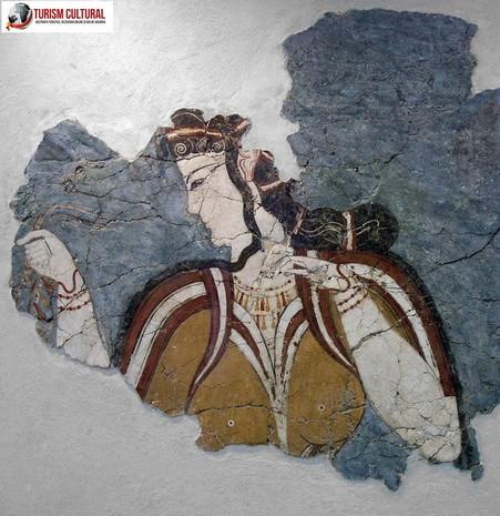 Grecia Micene fresca femeie miceniana