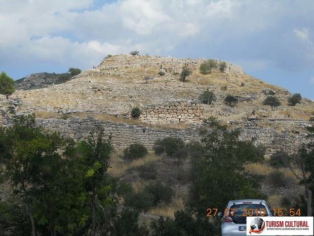 Grecia Micene vedere generala din parcare