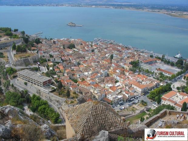 Grecia Nafplio vedere de pe cetatea Palamidi