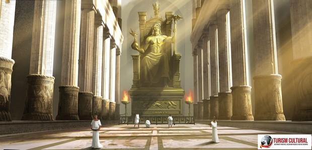 Grecia Olympia statuia lui Zeus (minune antica)