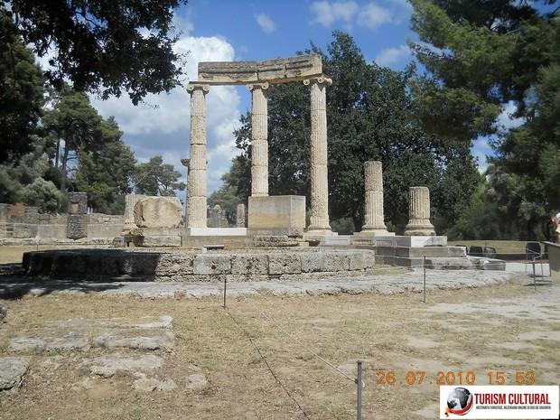 Grecia Olympia templul Herei (tholos)