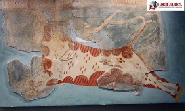 Grecia Tirint fresca joc cu taur