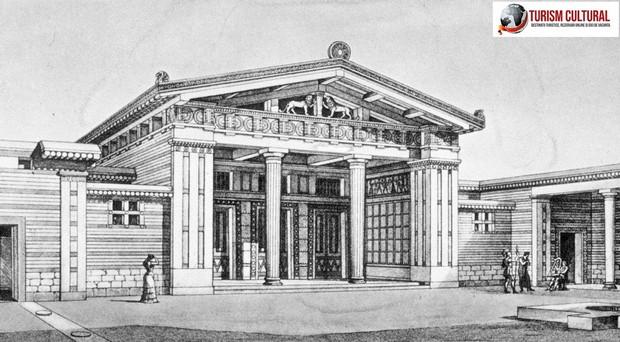 Grecia Tirint reconstituire megaron