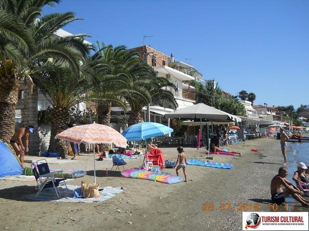 Grecia Tolo plaja cu palmieri