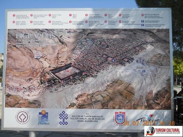 Turcia Hierapolis reconstituire panou