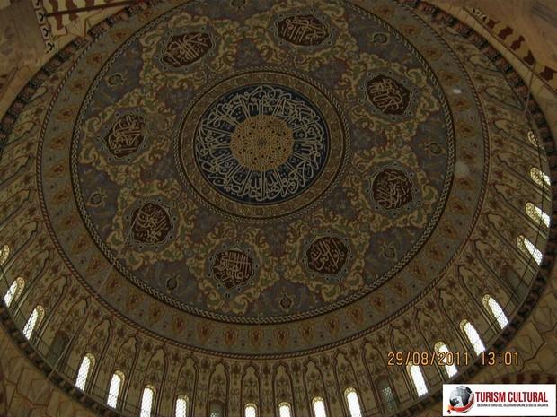 Turcia Edirne Moscheea Selimiye pictura cupolei