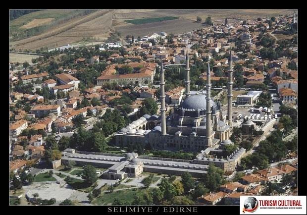 Turcia Edirne Moscheea Selimiye vedere aeriana