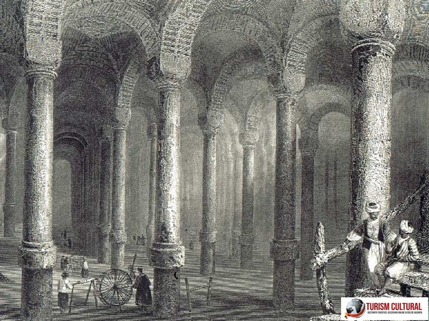 Turcia Istanbul cisterna Binbindirek gravura