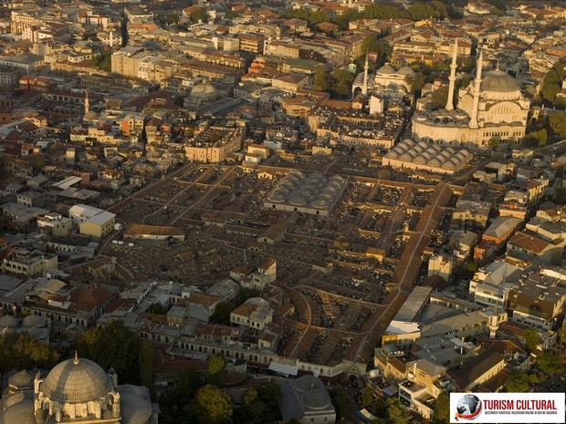 Turcia Istanbul Marele Bazar vedere aeriana