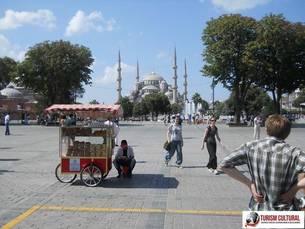 Turcia Istanbul vanzator covrigi